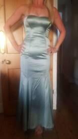Coast size 10 fishtail satin long length glamourous wiggle dress