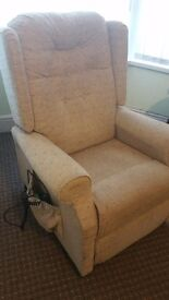 Good Condition dual rise and recline beige chair