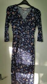 Navy Floral Maternity Wrap Dress Size 6