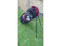Golf stand bag - excellent condition - black/red/white