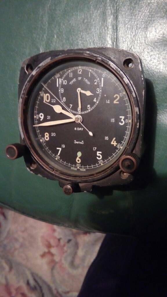 Spitfire time of trip cockpit clock in working order