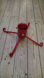 Christmas Tree Stand red