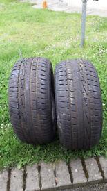 2 x 16inch Goodyear ULTRAGRIP Winter tyres 225/50/16 NEARLY NEW