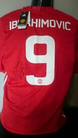 Zlatan Ibrahimovic signed Manchester United shirt with Coa