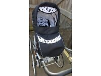 For sale pram 3 in 1 at the moment car seat in car . Good condition