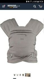 Caboo + Organic Multi Position Baby Carrier - Steel Marl - unused
