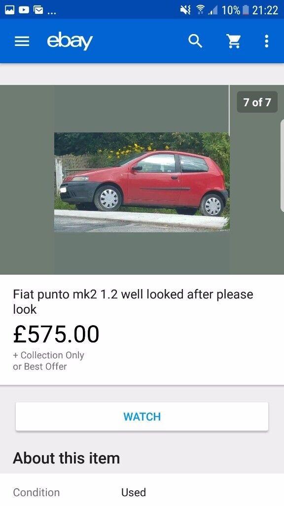 Fiat punto mk2 2002 1.2 low mileage 75k genuine