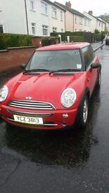 Beautiful one of a kind red mini cooper with original mini alloys bargain deal
