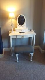 Slim-line shabby chic dressing table set £79.99
