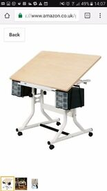 Brand new just been assembled Craft master table