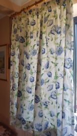 Laura Ashley Lined Curtains