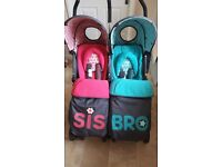 Cosatto sis and bro pushchair
