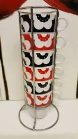 Stacking mug set