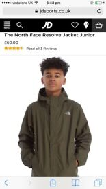 Junior boys north face coat