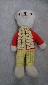 Vintage large Rupert the Bear cuddly toy 1970s