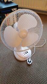"""White Desk Fan - 12 Inch 12"""""""