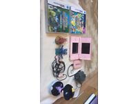 Nintendo DS Lite PINK with games and figurines
