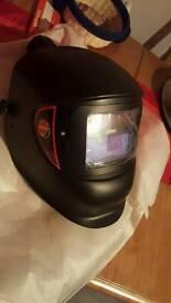 Air fed welding helmet