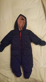 Boots Mini Club blue snow suit aged 0-3 months