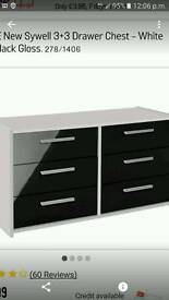 New Sywell 3+3 chest of drawers