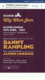 4 available at £19 Danny rampling and Alison limerick tickets easter sunday Sold out event