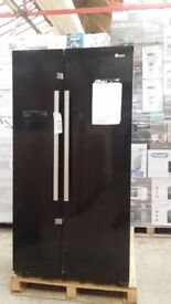 MARTHILL TESTED & WORKING Swan Sr8070B American-Style Frost-Free Fridge Freezer – Black