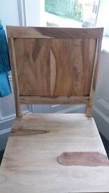 Stripped wooden chair