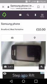 Samsung gt5 0363 mobbile phone.