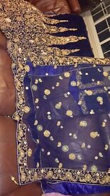 ASIAN BRIDAL NAVY BLUE LEHNGA UP FOR GRABS! DESIGNER PIECE SELLING AT A VERY CHEAP PRICE!!