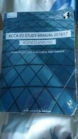 ACCA P3 Business Analysis study book 2017