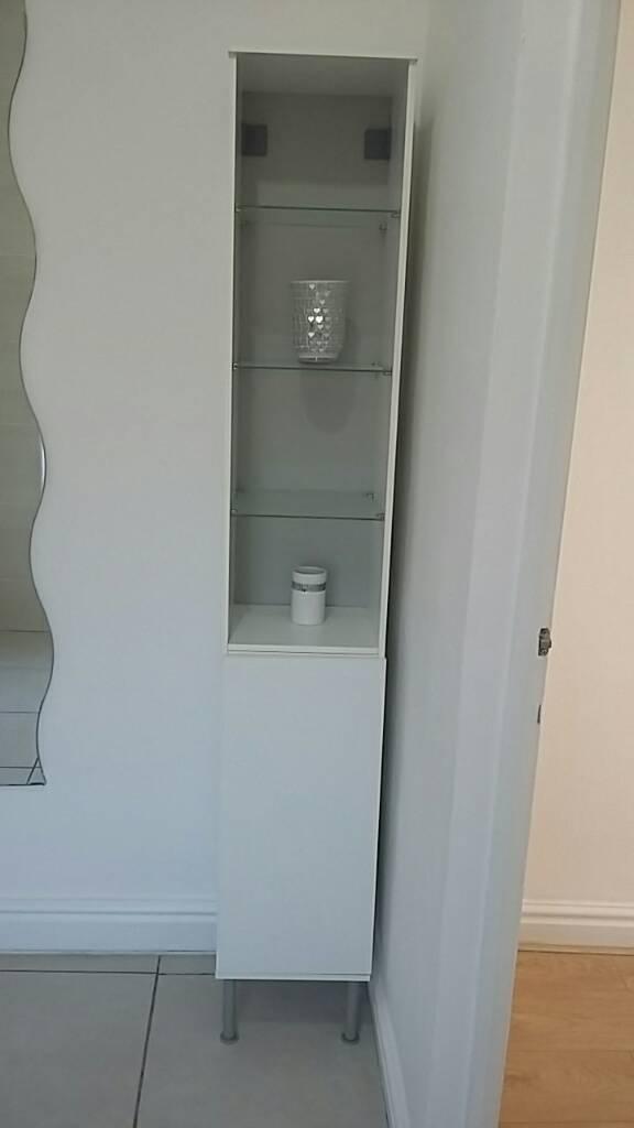 Bathroom Cabinet With Glass Shelves Ikea Fullen In