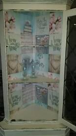 Shabby chic vintage wooden corner unit