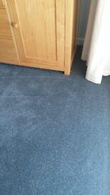 Carpet, Blue denim, 3m x 3m - new.