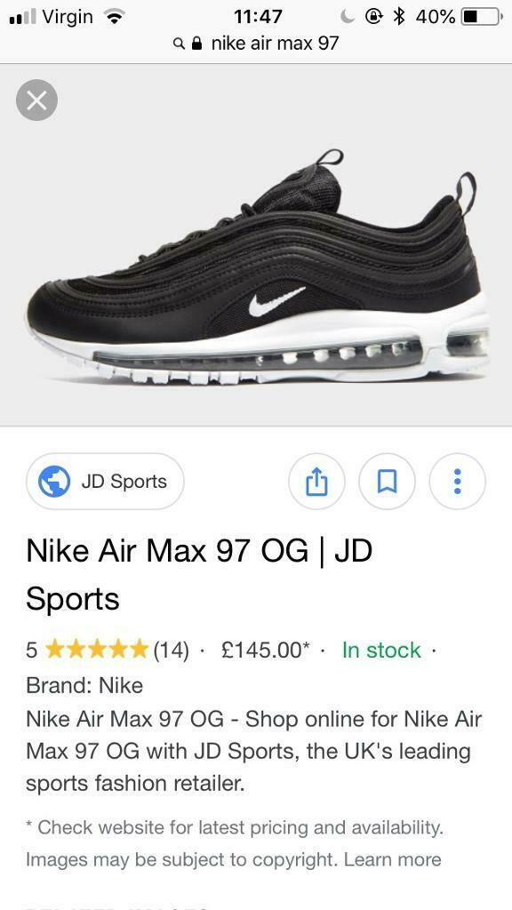 huge selection of 43696 d2f8c Nike air max 97   in Dundee   Gumtree