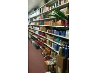Shop retail shelves.