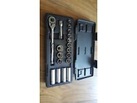 Halfords Advanced Professional Metric Socket Set Kit 18 Piece Standard Deep
