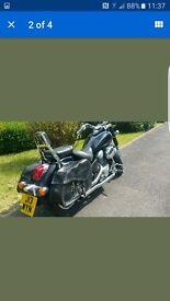 Honda shadow motorbike black