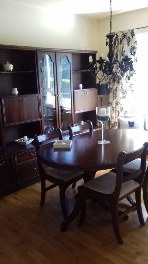 Awe Inspiring Free Dark Wood Dining Table 6 Chairs Matching Display Onthecornerstone Fun Painted Chair Ideas Images Onthecornerstoneorg