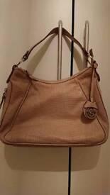 Gianni conti natural nude handbag ex condition