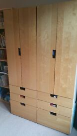 2 IKEA STUVA CHILDREN'S WARDROBES
