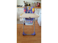 Chicco poly 2 in 1 high chair- very good condition