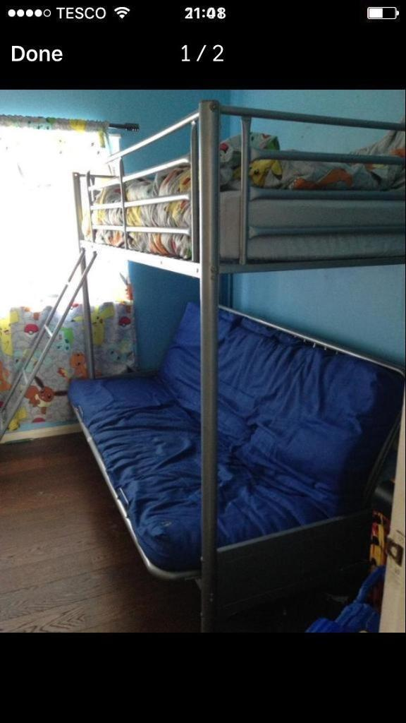 High Sleeper Double Futon Bunk Bed