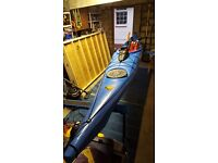 Sea kayak with accessories