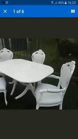 French louis table and chairs