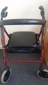 Rollators walker with padded seat