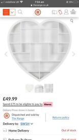 White heart shelf
