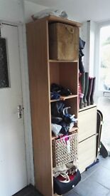 Freestanding Shelf unit in Maple
