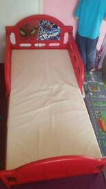 Spiderman toddler bed with mattress