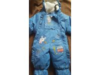 Brand new winter and snow baby girl pramsuit.