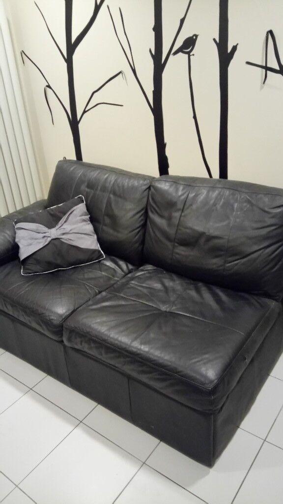 Black Leather Sofa Storage Bed In Ipswich Suffolk Gumtree